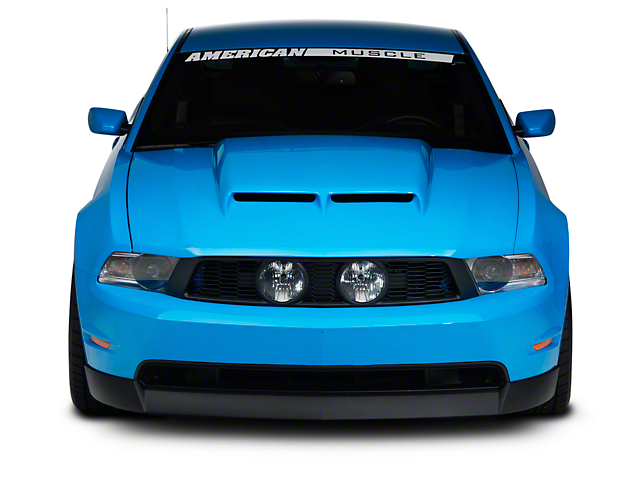 Cervini's Ram Air Hood; Unpainted (10-12 GT, V6)