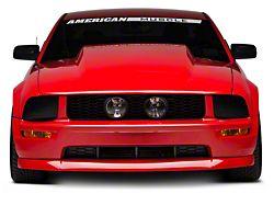 Cervini's 4-Inch Cowl Hood; Unpainted (05-09 GT, V6)