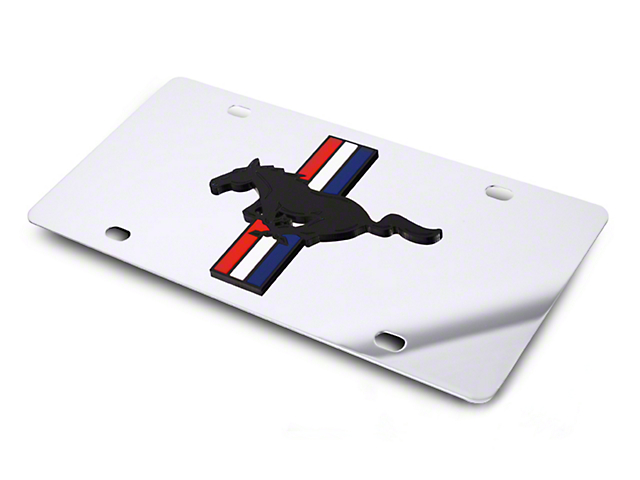SpeedForm Front License Plate - Tri-Bar Pony on Mirror (79-19 All)