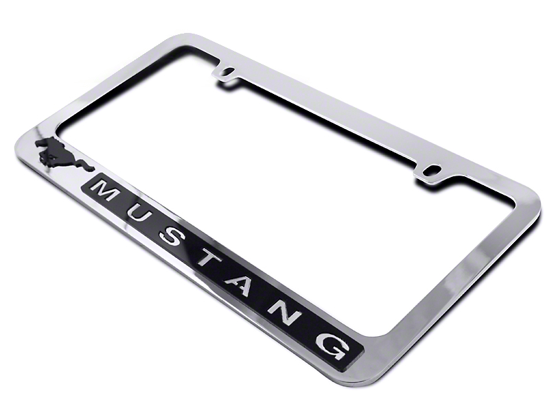 SpeedForm Mustang License Plate Frame - Black Pony w/ Mustang ...