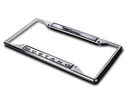 SpeedForm License Plate Frame; Mustang Horsepower (Universal Fitment)