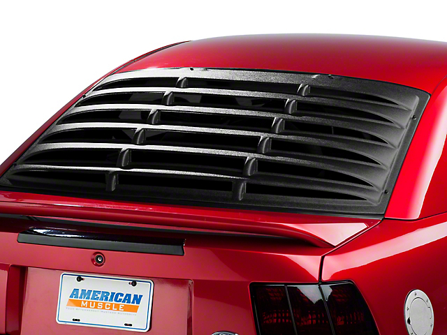 SpeedForm Rear Window Louvers; Textured ABS (94-04 Coupe)