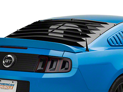 Rear Window Louvers - Smooth Aluminum (10-14 Coupe)