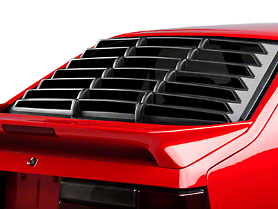 Willpak Rear Window Louvers - Textured ABS (79-93 Hatchback)