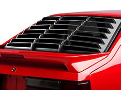 ABS Rear Window Louver; Textured Black (79-93 Hatchback)