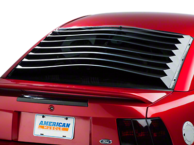 SpeedForm Rear Window Louvers - Smooth Aluminum (94-04 Coupe)