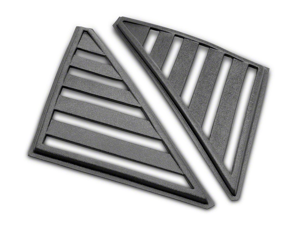 SpeedForm Hatchback Quarter Window Louvers - Unpainted (79-86 Hatchback)