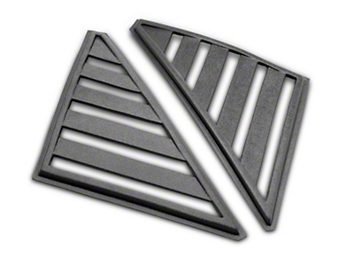 SpeedForm Hatchback Quarter Window Louvers - Unpainted (79-86 All)