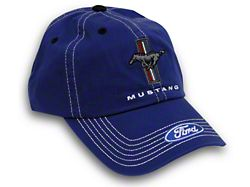 Tri-Bar Pony Hat; Blue