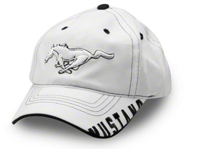 Running Pony Hat - White