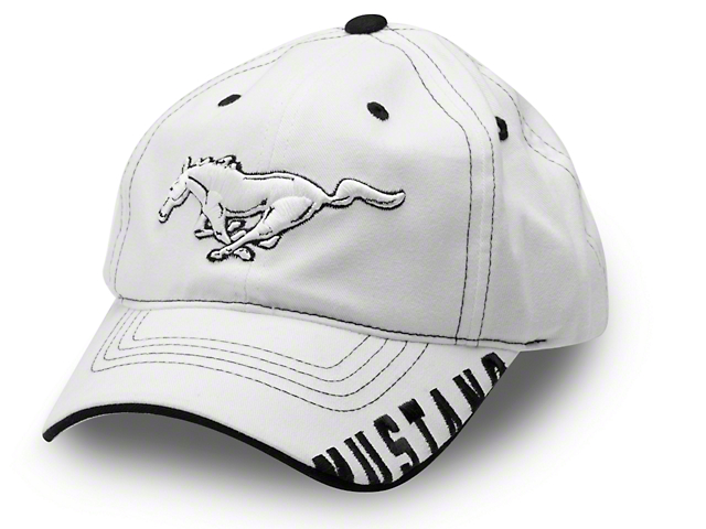 Running Pony Hat; White