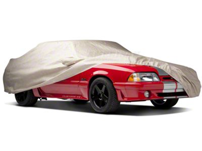 Fleeced Satin Covercraft Custom Fit Car Cover for Select Ford Mustang Models FS17289F5 Black