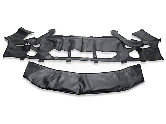 Covercraft Colgan Original Car Bra w/o License Plate Opening; Carbon Fiber (07-09 GT500)