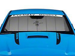 Covercraft UVS100 Custom Sunscreen; Tri-Bar Pony Logo (10-12 All)