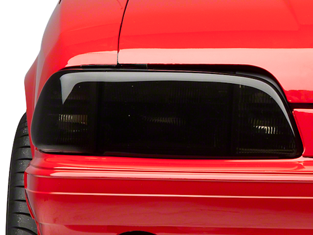 SpeedForm Headlight Covers; Smoked (87-93 All)