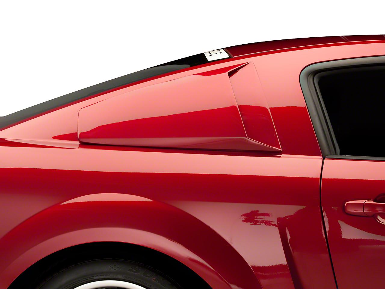 Quarter Window Scoops - Unpainted (05-14 Coupe)