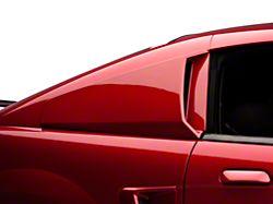 Quarter Window Scoops; Unpainted (99-04 Coupe)