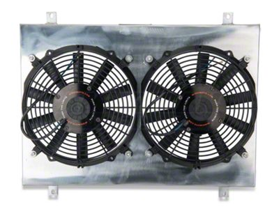 Add Mishimoto Dual High Flow 12 in. Fans w/ Aluminum Shroud (79-93 5.0L)