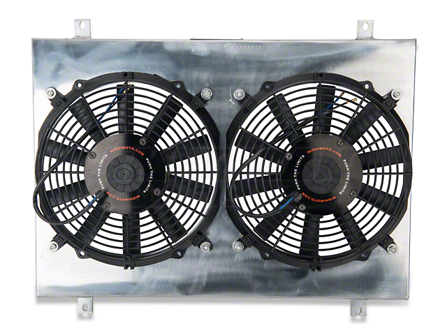 Mishimoto Dual High Flow 12-Inch Fans with Aluminum Shroud (79-93 5.0L)