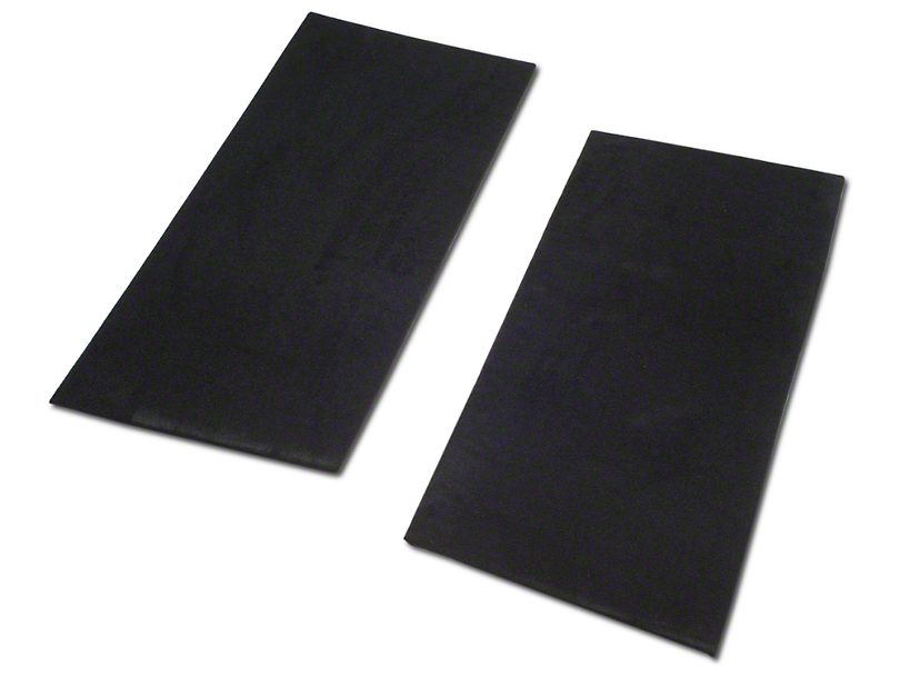 SpeedForm Rear Seat Delete Kit; Black (94-98 Convertible)