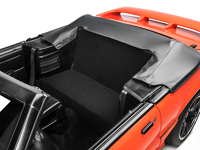 SpeedForm Rear Seat Delete Kit; Black (83-93 Convertible)