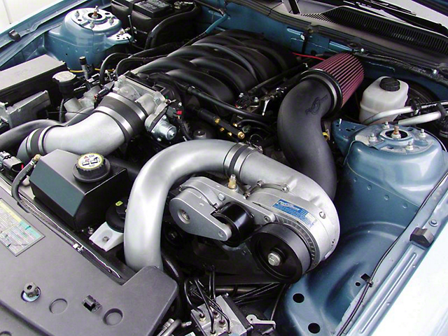 Procharger Stage II Intercooled Supercharger Kit; Satin Finish (05-09 GT)