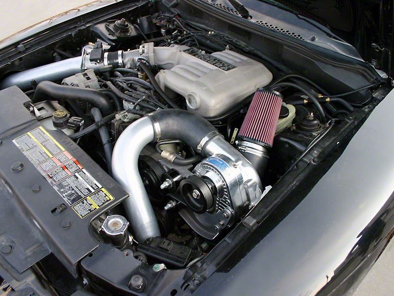 Procharger Stage II Intercooled Supercharger Kit with D-1SC; Satin Finish (94-95 GT, Cobra)