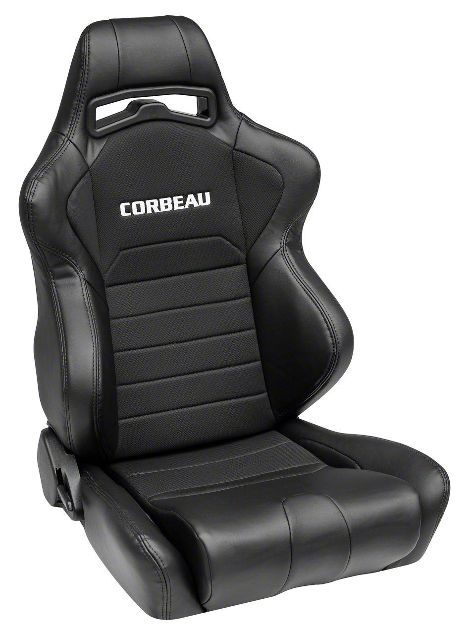 Corbeau LG1 Racing Seat - Black - Pair (79-19 All)