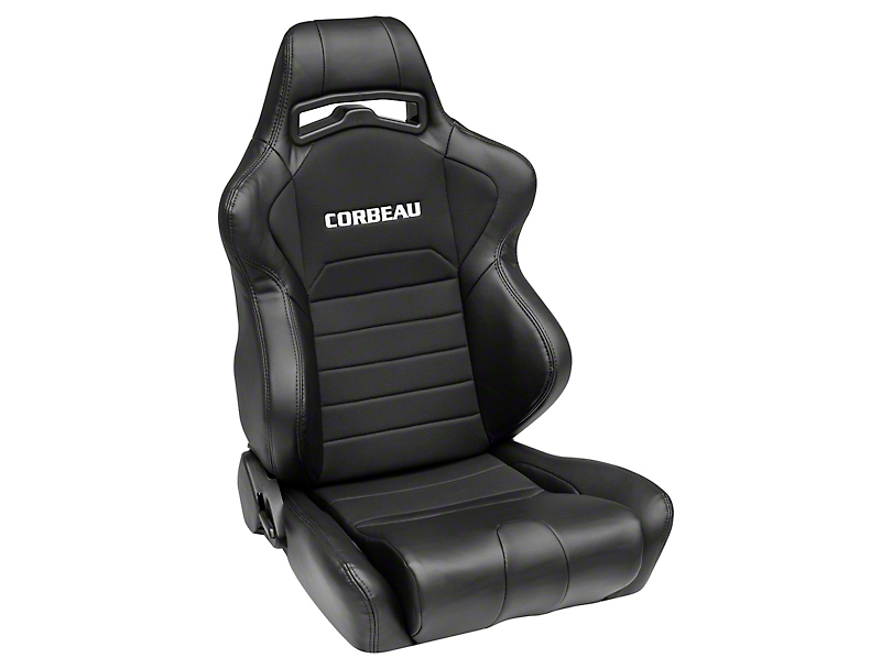 Corbeau LG1 Racing Seat - Black - Pair (79-18 All)