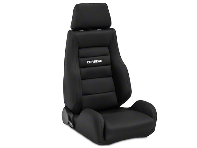 Corbeau GTS II Reclining Seats; Black Cloth; Pair (79-20 All)