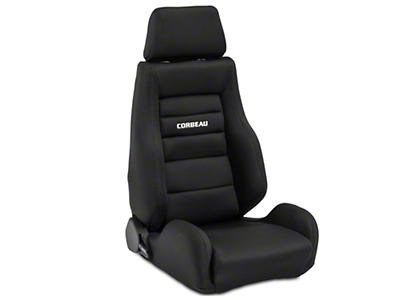 Corbeau GTS II Racing Seat - Black - Pair (79-18 All)
