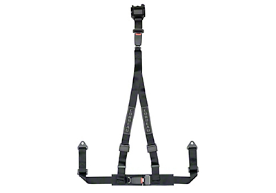 Corbeau 2 in. 3-Point Retractable Harness Belt - Black (79-17 All)