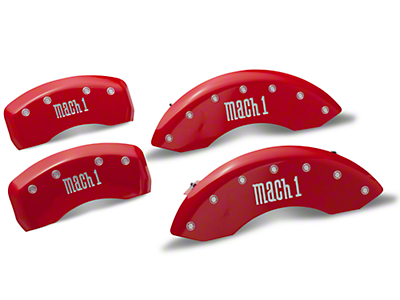 MGP Red Caliper Covers w/ Mach 1 Logo - Front & Rear (03-04 Mach 1)