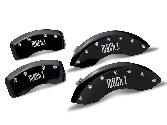 MGP Black Caliper Covers w/ Mach 1 Logo - Front & Rear (03-04 Mach 1)