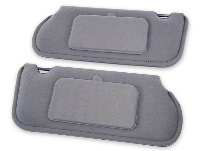 TMI Cloth Sun Visors w/ Mirrors - Smoke Gray (87-89 Coupe, Hatchback)