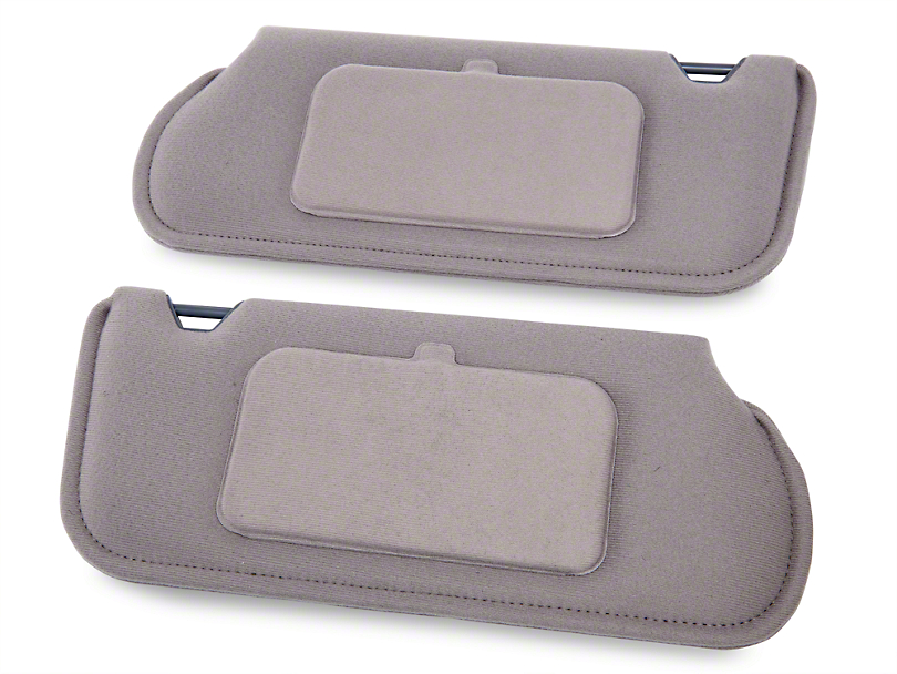 TMI Cloth Sun Visors w/ Mirrors - Titanium Gray (90-92 Coupe, Hatchback)