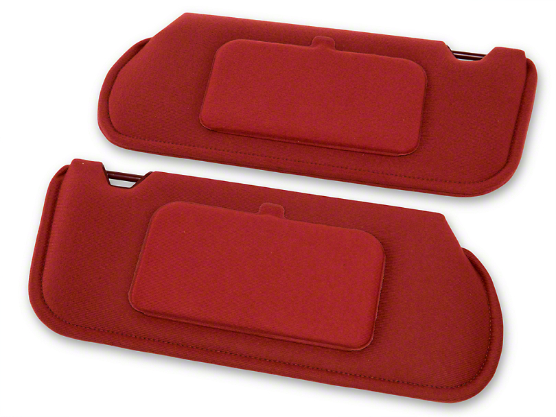 TMI Cloth Sun Visors w/ Mirrors - Scarlet Red (85-93 Coupe, Hatchback)
