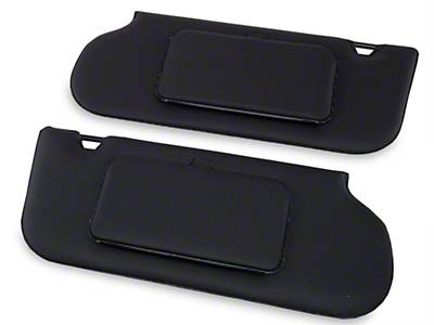 TMI Vinyl Sun Visors w/ Mirrors - T-Top/Sunroof - Black (85-93 All)