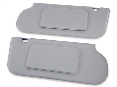 TMI Vinyl T-Top/Sunroof Sun Visors w/ Mirrors - Smoke Gray (87-89 Coupe, Hatchback)