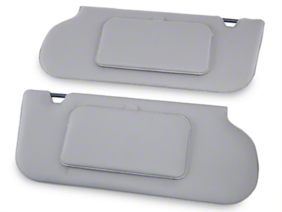 TMI Vinyl T-Top/Sunroof Sun Visors w/ Mirrors - Titanium Gray (90-92 Coupe, Hatchback)