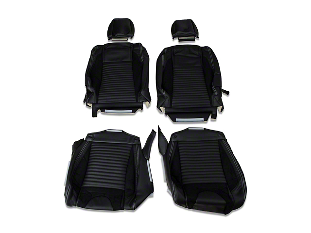 TMI Sport R Leather Front & Rear Upholstery Kit - White Stitch (05-07 Coupe Non-Airbag)