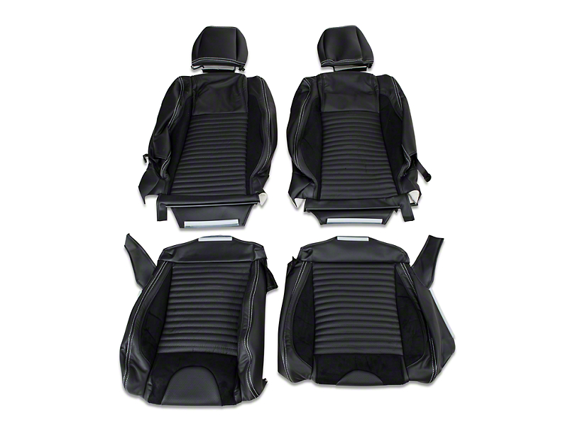 TMI Sport R Leather Upholstery Full Set - White Stitch (05-07 Convertible Non-Airbag)