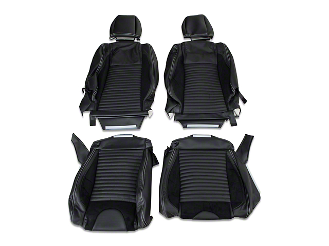 TMI Sport R Leather Front & Rear Upholstery Kit - White Stitch (05-07 Convertible Non-Airbag)