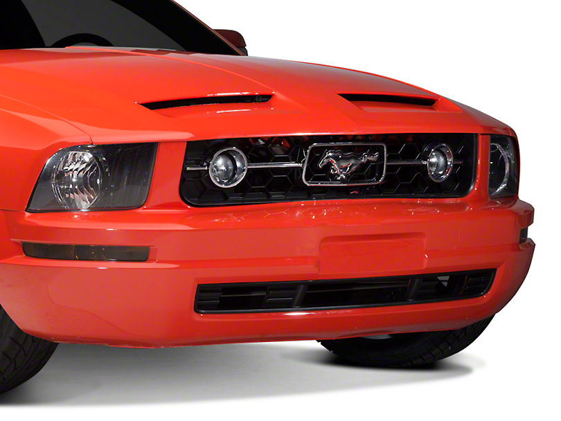 Pony Package Grille : Opr mustang pony package style lower front bumper grille