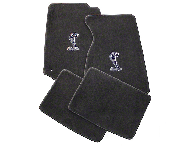 Lloyd Front & Rear Floor Mats w/ Cobra Logo - Gray (99-04 All)