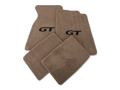 Lloyd Front & Rear Floor Mats w/ Black GT Logo - Parchment (94-98 Coupe)