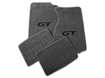 Lloyd Front & Rear Floor Mats w/ Black GT Logo - Gray (94-98 Coupe)