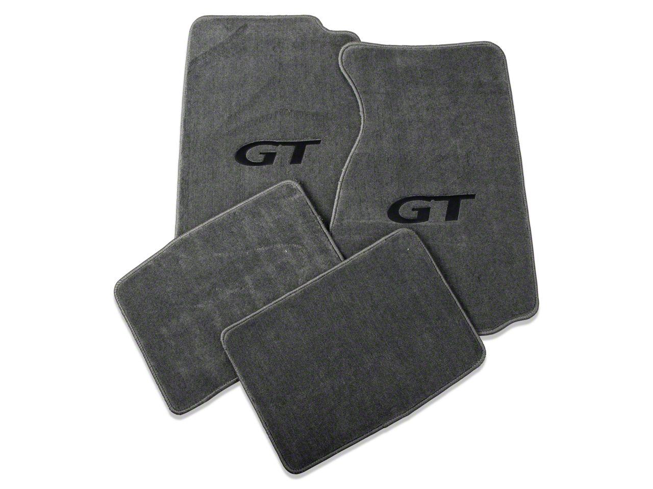 Lloyd Front & Rear Floor Mats w/ Black GT Logo - Gray (99-04 All)