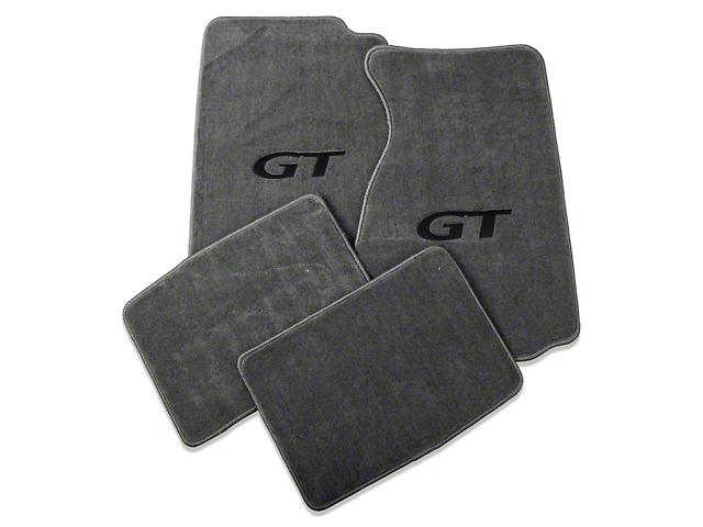 Lloyd Front & Rear Floor Mats w/ Black GT Logo - Gray (99-04 All)