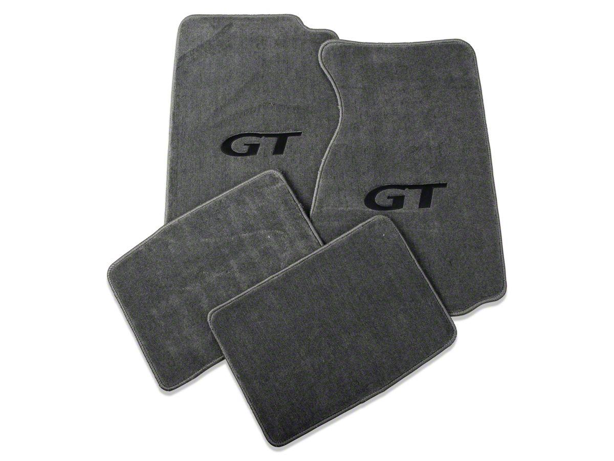 Lloyd Mustang Front Rear Floor Mats W Black Gt Logo Gray 12172 99 04 All